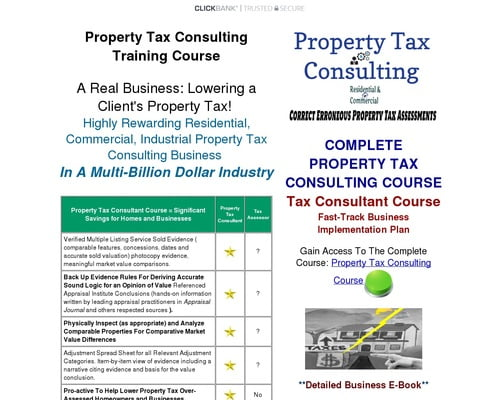 Property Tax Appeal Consulting Course