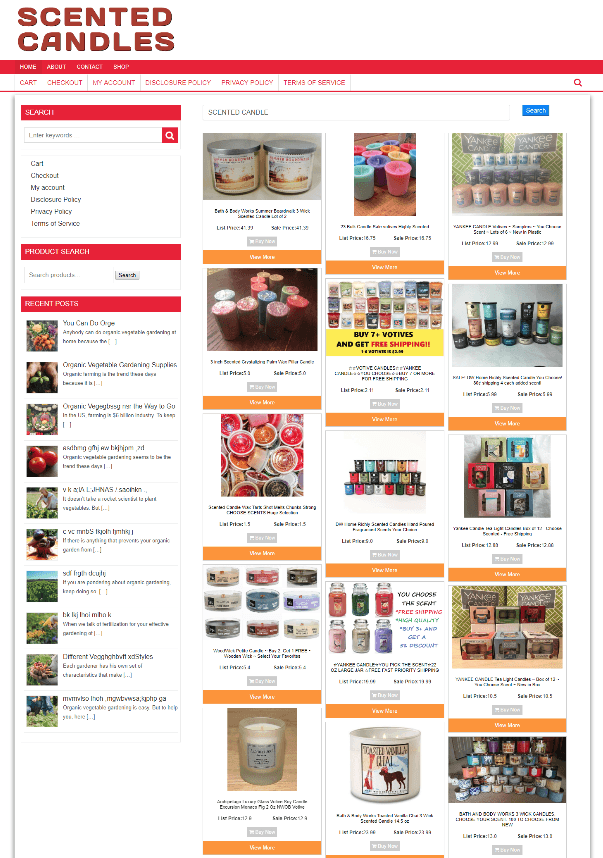 SCENTED CANDLES WEBSITE ECOMMERCE BUSINESS + 1 YEARS HOSTING - NEW DOMAIN
