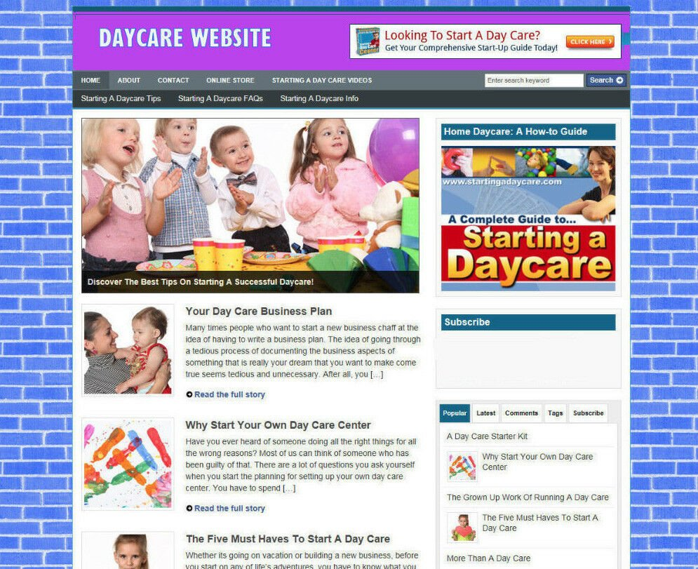 STARTING A DAYCARE ADVICE STORE & WEBSITE WITH AFFILIATES + FREE DOMAIN