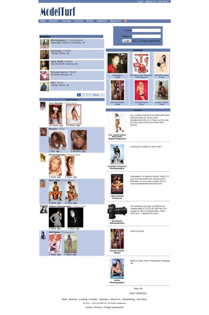 Selling ModelTurf.com networking website for Models and Photographers