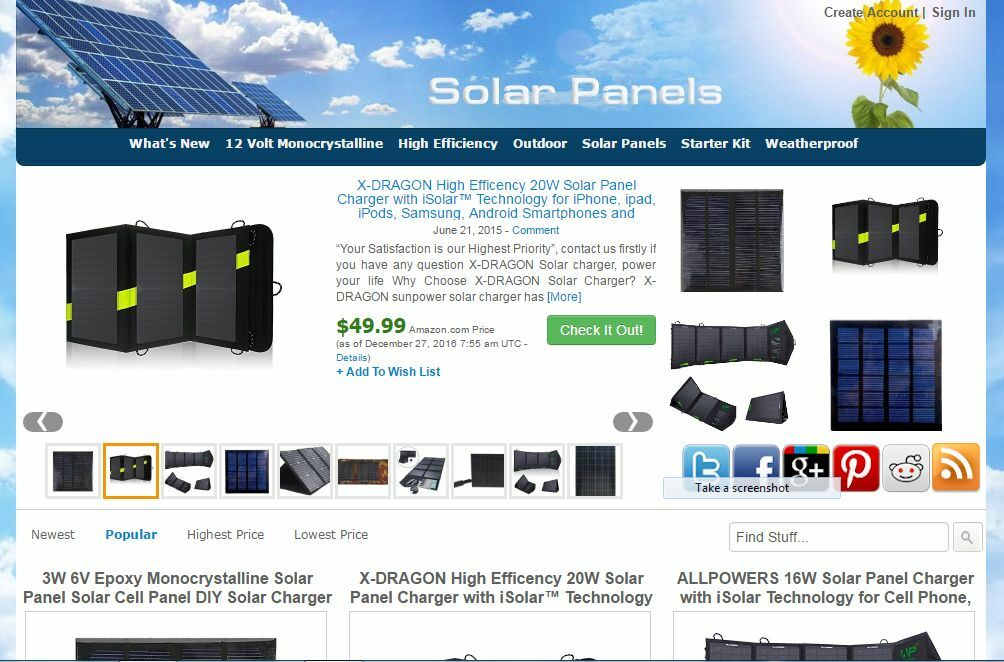 Solar Panels Amazon Store Website Free Installation+Hosting