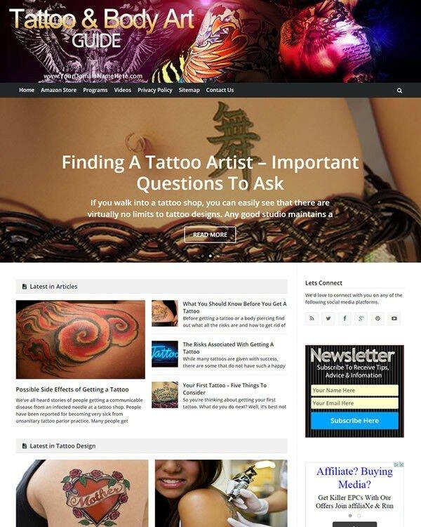 Tattoo And Body Art Website