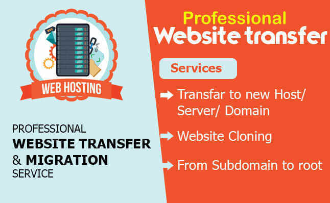 Transfer your website to a new domain. Migrate and move it in just hours!