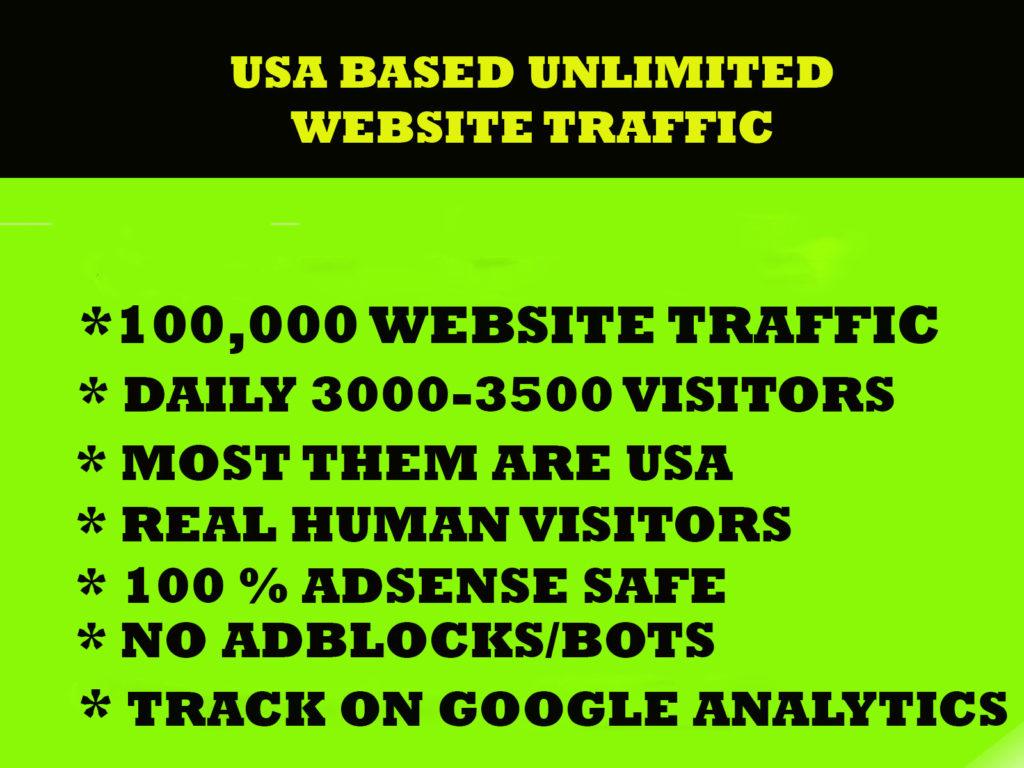 USA Based 100,000 Social Website Traffic