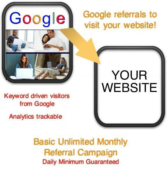 Website Visitors- 15 days/6000 Google Referrals/Visitors to your website
