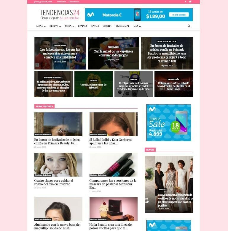 Website for womens, news, sell, commerce. Tendencias24