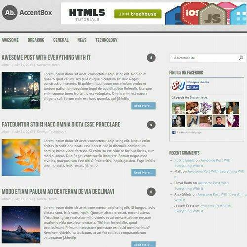 WordPress 'ACCENTBOX' Website News / Magazine Theme Business (FREE HOSTING)