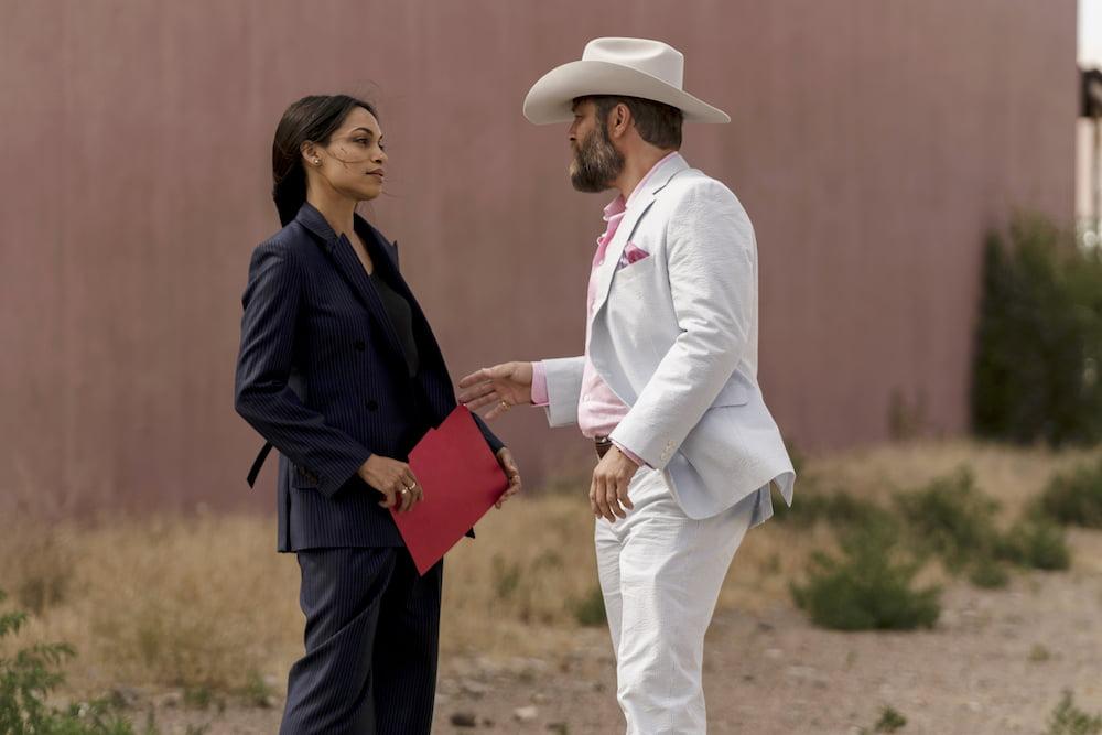 "Rosario Dawson and Jay R. Ferguson in ""Briarpatch"" USA Network"