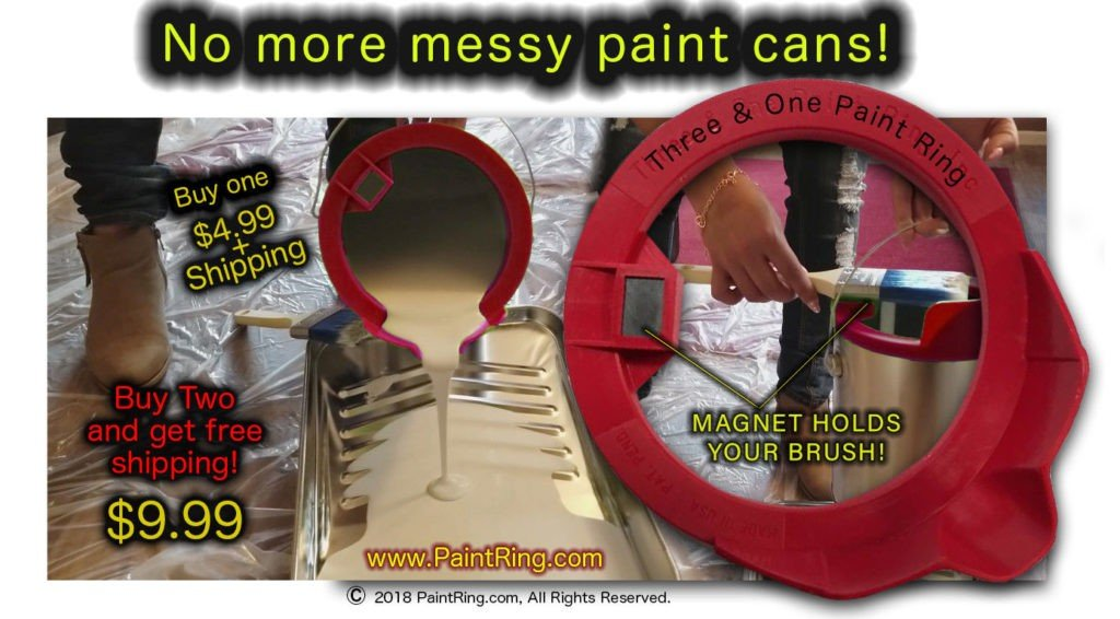 3 in 1 Pour N Paint Ring Painting Product Invention For Sale
