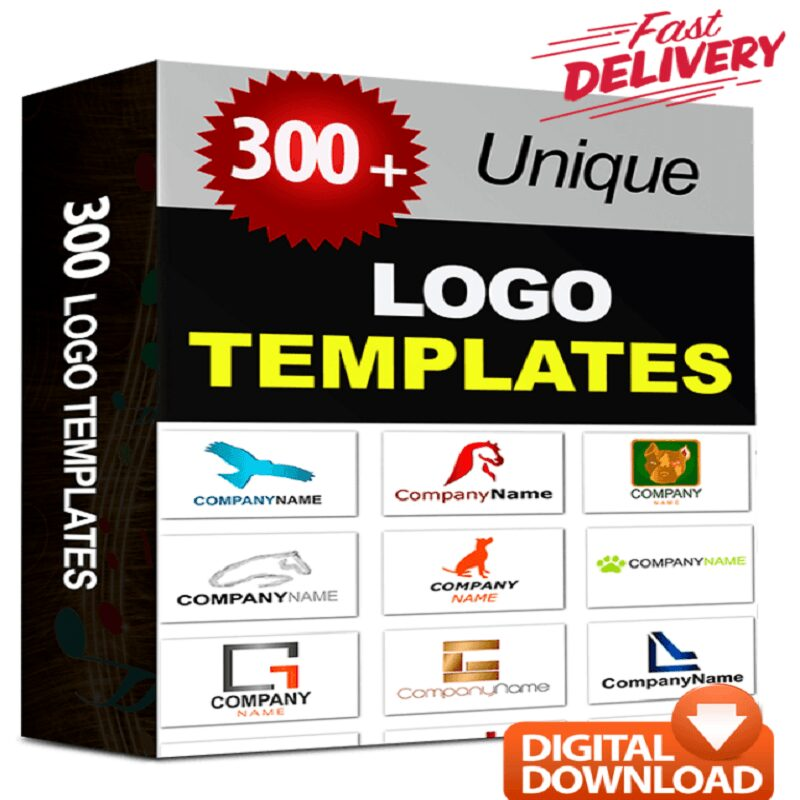 300 Logo Templates – Ready Made Professional & Unique PSD Logo Designs + RR
