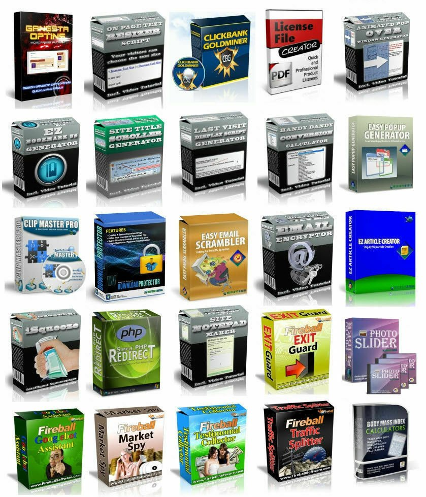 50 Software Collection with Master Resell Rights