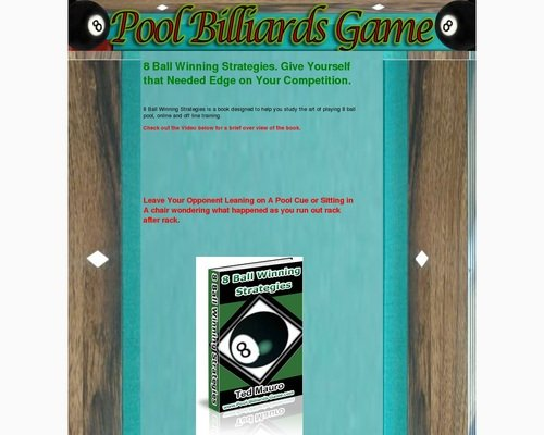 8 Ball Winning Strategies. Billiards Instruction. Pool Lessons.