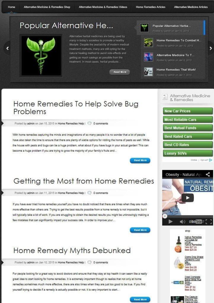 ALTERNATIVE MEDICINE BLOG WEBSITE BUSINESS & DOMAIN FOR SALE!