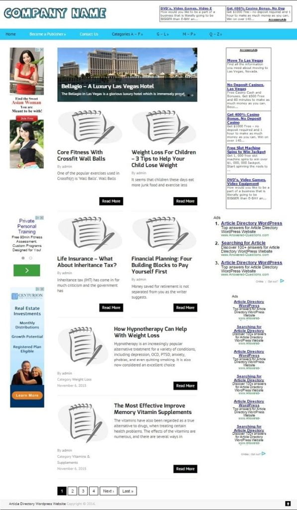 ARTICLE DIRECTORY WEBSITE BUSINESS FOR SALE! LOADED WITH 3000+ ARTICLES