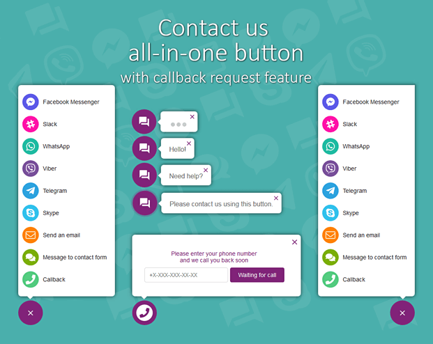All in One Support Button ⭐ Callback Request ⭐ Best Plugin Wordpress ⭐ ULTIMATE