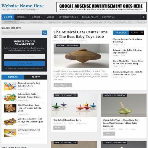 BABY TOYS STORE - Business Website For Sale + Domain + Hosting + Full Setup