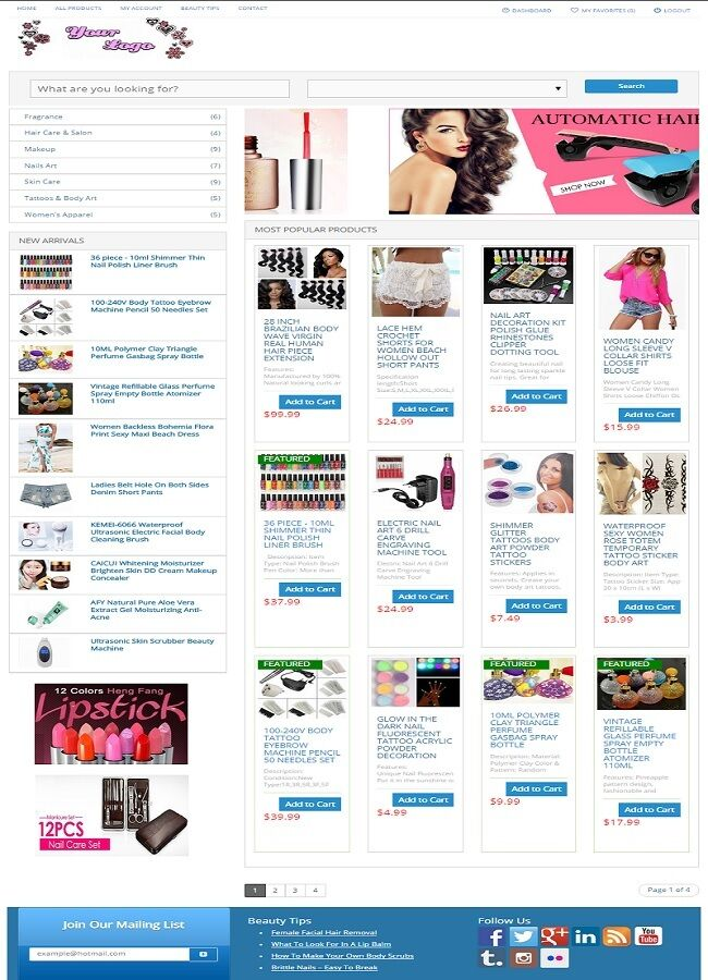 BEAUTY and MAKEUP SHOP WEBSITE BUSINESS FOR SALE!  FULLY AUTOMATED BUSINESS