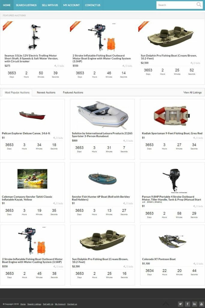 BOATS BUY and SELL WEBSITE BUSINESS FOR SALE! with DESKTOP & MOBILE VERSIONS