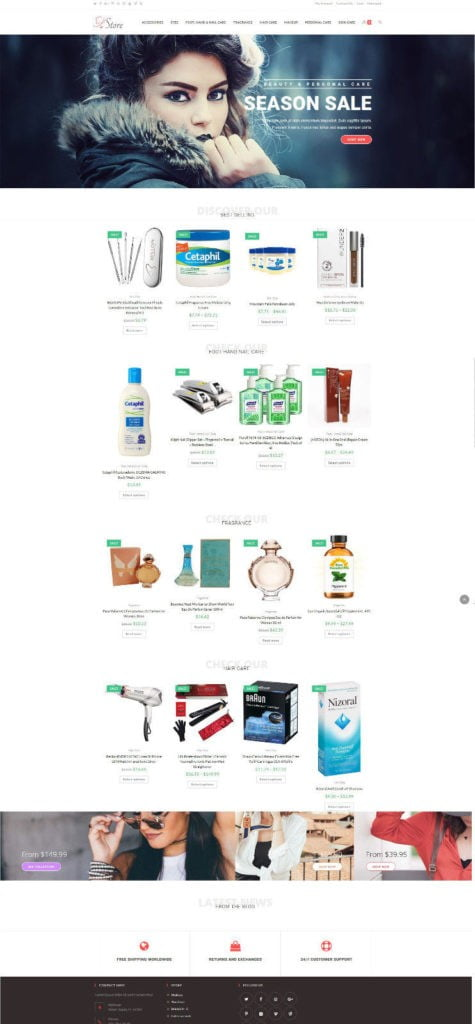 Beauty and Skin Care Store - Amazon Affiliate + eCommerce Website + Free Hosting