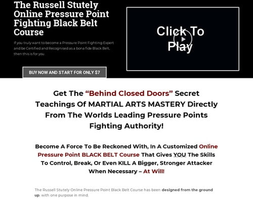 Become A Pressure Point Fighting Expert