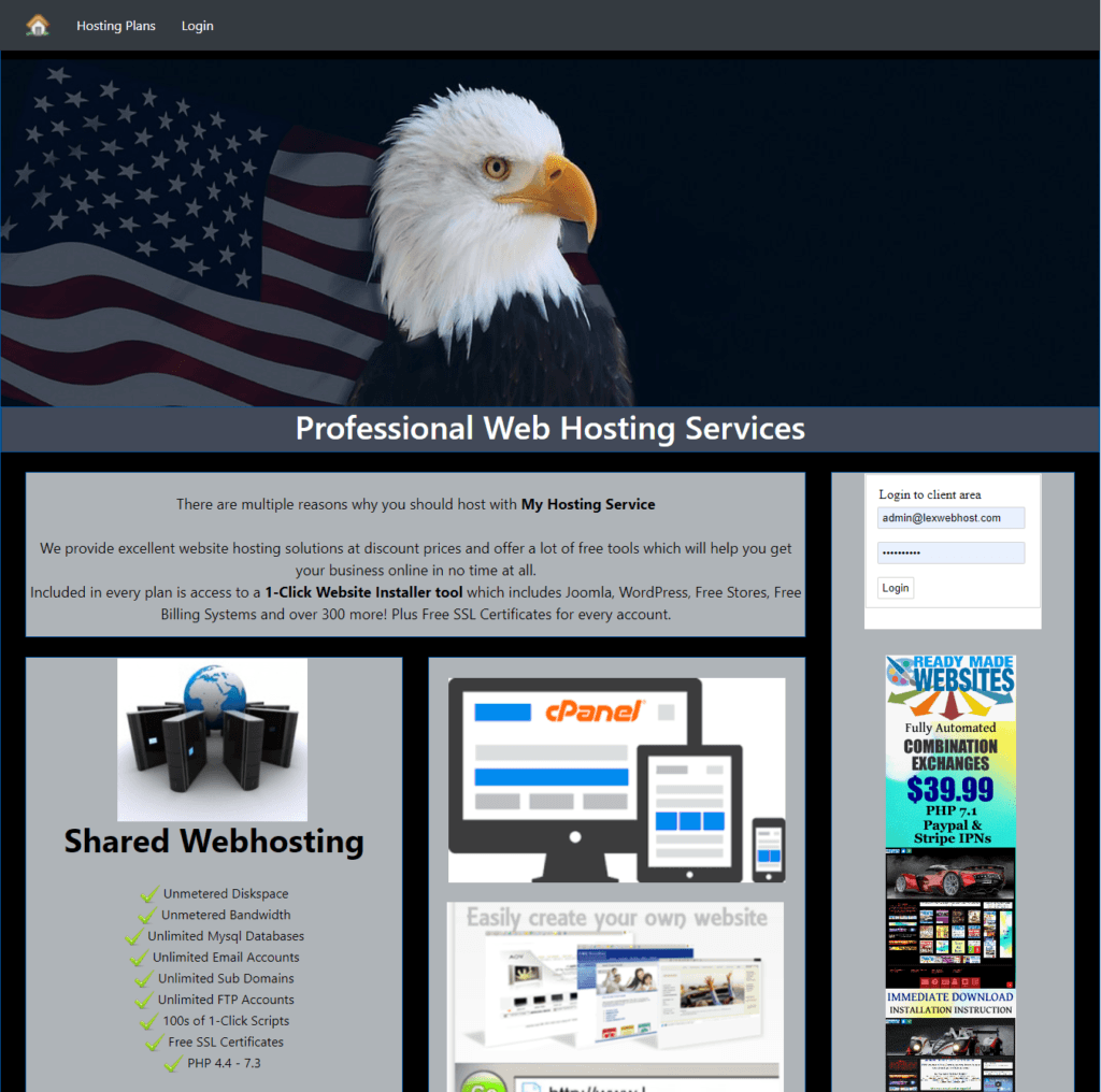Buy a Turnkey Premium Reseller Hosting Billing Website that Makes Money Free SSL