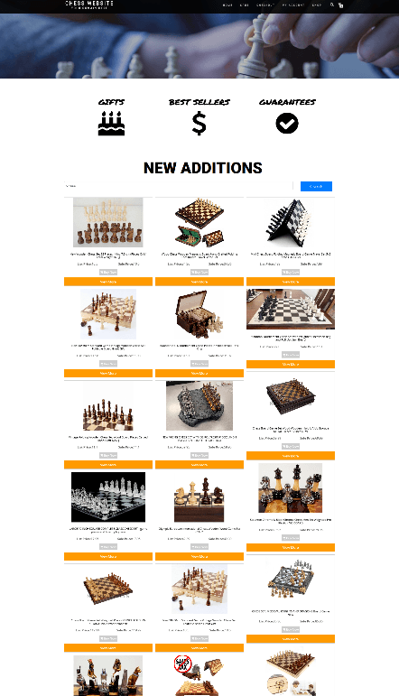 CHESS WEBSITE WITH NEW DOMAIN & HOSTING - ECOMMERCE - EASY TO RUN