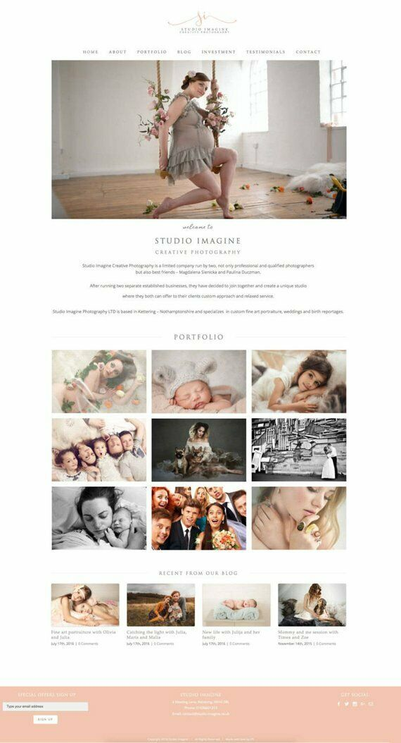 Custom WordPress Single Page Website Design, Responsive Web Design, WordPress