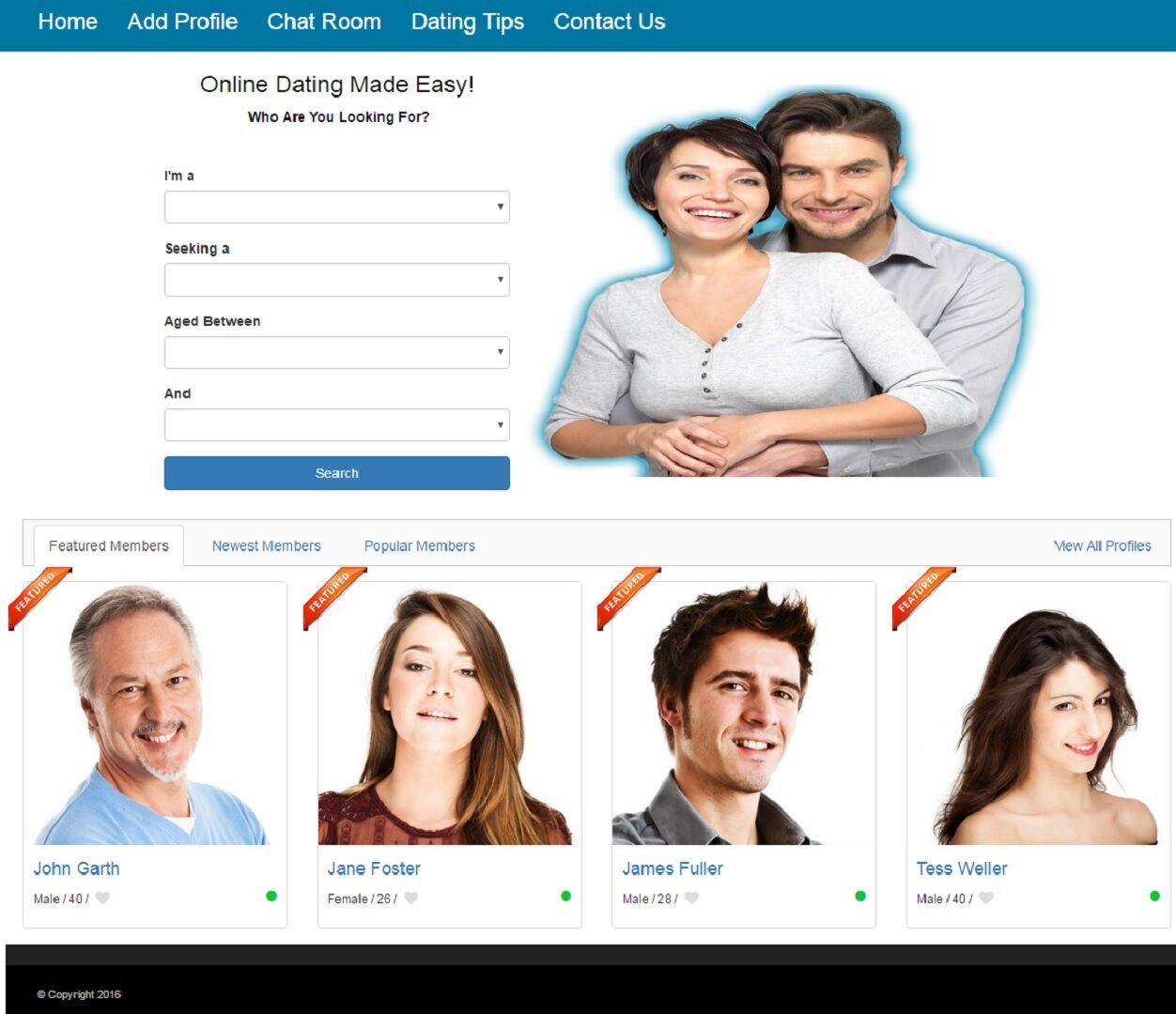 DATING SERVICE WEBSITE BUSINESS FOR SALE! MOBILE FRIENDLY DESIGN