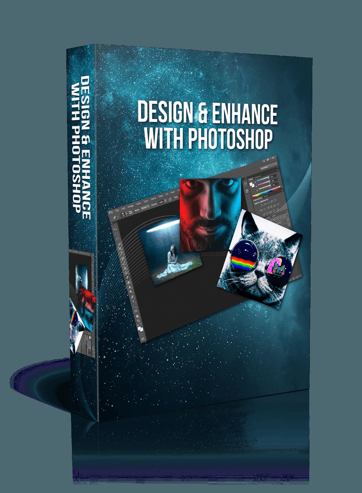 """DESIGN & ENHANCE WITH PHOTOSHOP"" - MASSIVE Training (HQ MP4 Videos + MP3)"