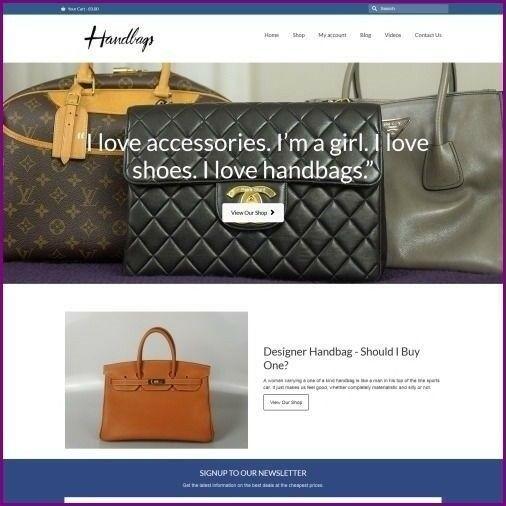 DESIGNER HANDBAG Website Business For Sale - Home Based Website Business