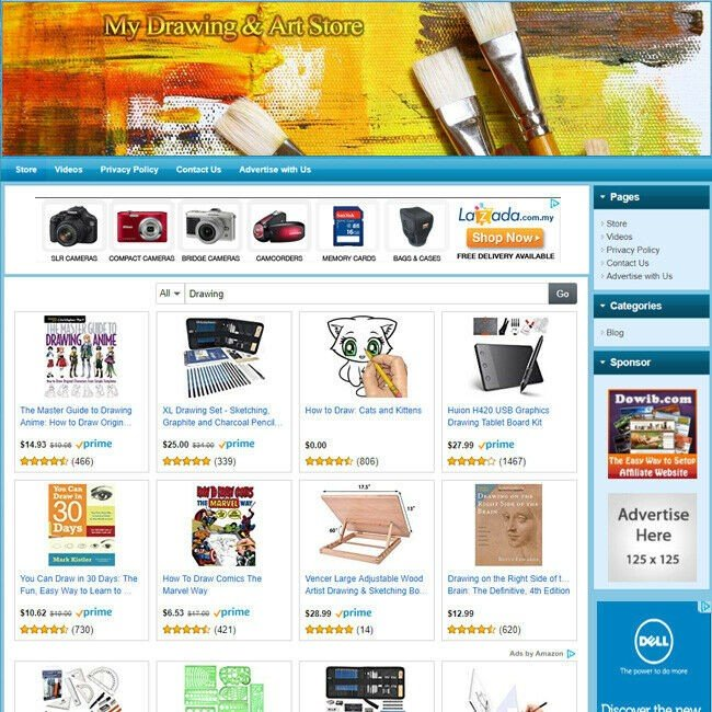 DRAWING & ART TOOLS STORE - Highly Profitable Online Business Website For Sale