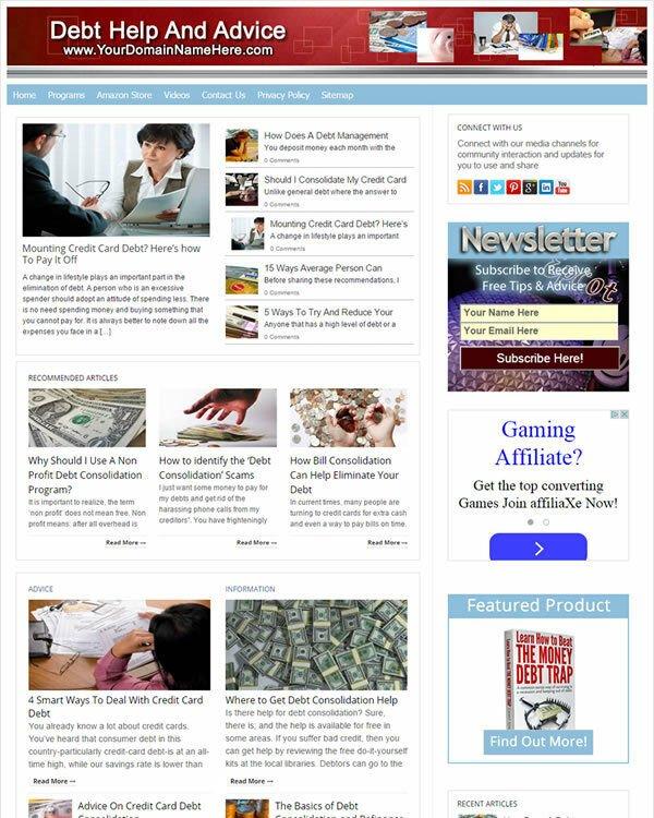 Debt Relief Website