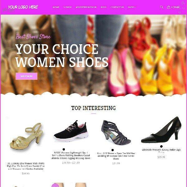 Designer Shoes Affiliate Online Business Website For Sale Mobile Friendly Ready!