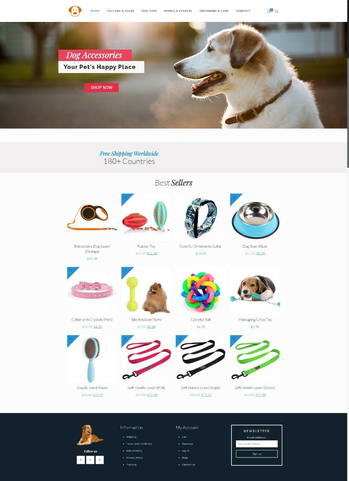 Dog Costumes Ecommerce Store + Hosting
