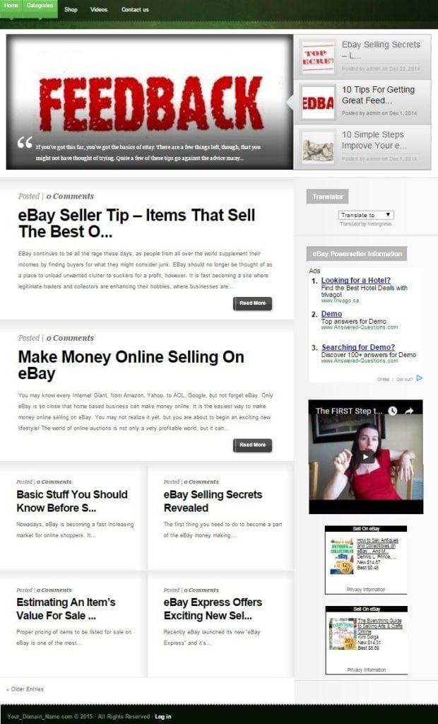 EBAY SELLER HELP WEBSITE BUSINESS FOR SALE!TARGETED CONTENT INCLUDED