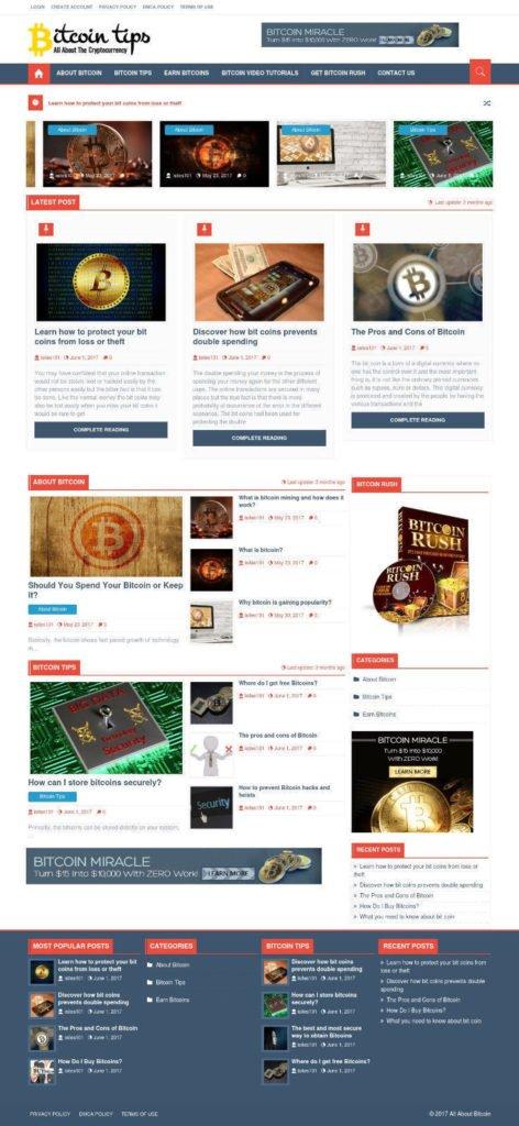 ESTABLISHED BTC CryptoCurrency Turnkey Wordpress Website Business For Sale+BONUS