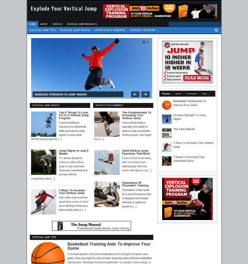 EXPLODE THAT VERTICAL JUMP BLOG & WEBSITE + NEW DOMAIN AND AFFILIATE STORE