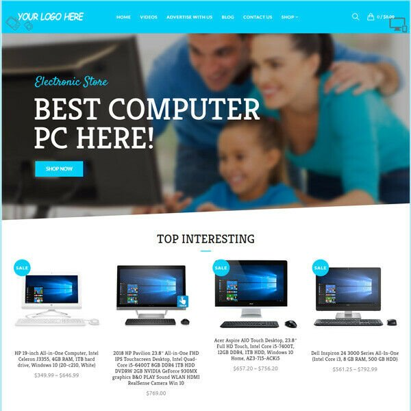 Electronic Gadget Affiliate Online Business Website For Sale! Mobile Friendly!