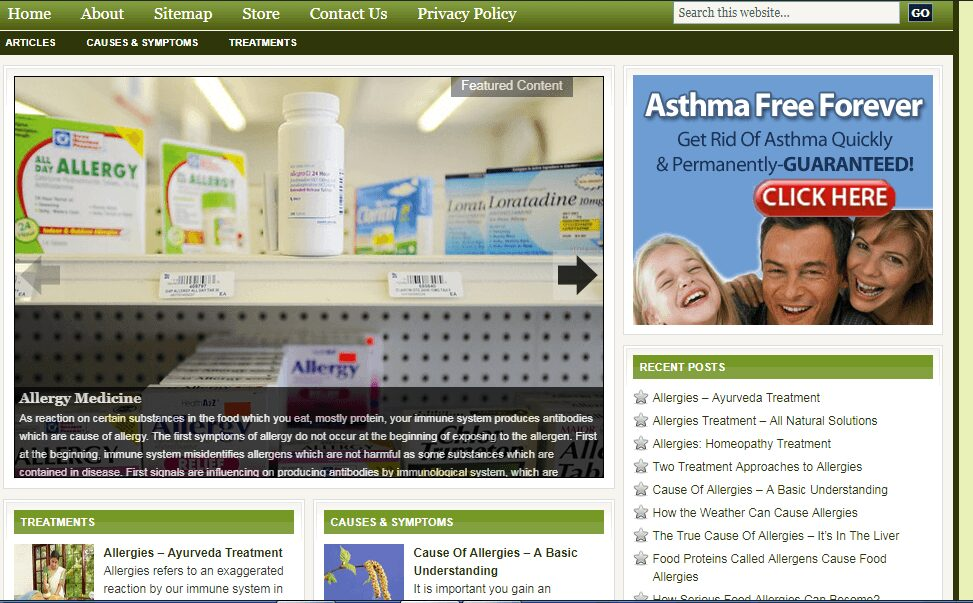 Enormous Allergy  Store Website Free Installation + Free Hosting