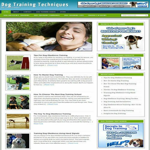 Established 'DOG OBEDIENCE' Affiliate Website Turnkey Business (FREE HOSTING)