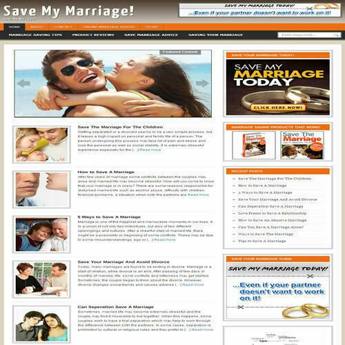 Established 'MARRIAGE ADVICE' Affiliate Website Turnkey Business (FREE HOSTING)
