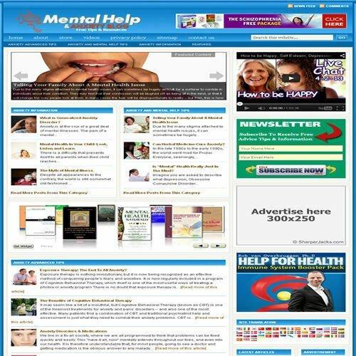 Established 'MENTAL HEALTH' Affiliate Website Turnkey Business (FREE HOSTING)