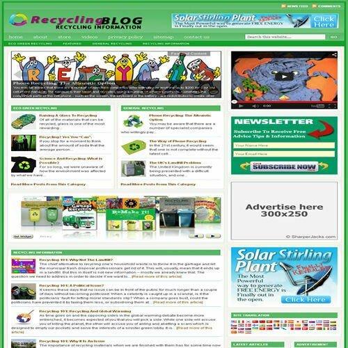 Established 'RECYCLING' Affiliate Website Turnkey Business (FREE HOSTING)