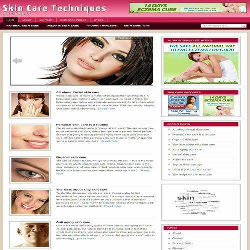 Established 'SKIN CARE' Affiliate Website Turnkey Business (FREE HOSTING)