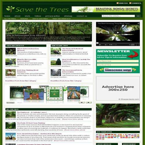 Established 'TREES & GARDEN' Affiliate Website Turnkey Business (FREE HOSTING)