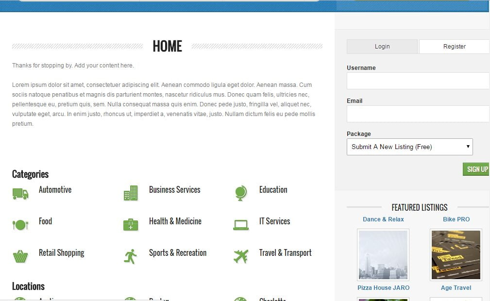 Excellent Directory  Website Free Installation + Free Hosting