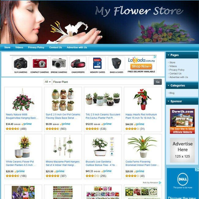 FLOWER & FLORIST STORE - Professionally Turnkey Online Business Website For Sale