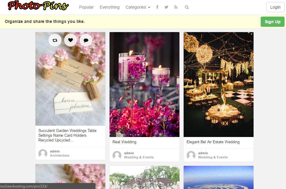 Fantastic Photo Pins Website Free Installation + Hosting