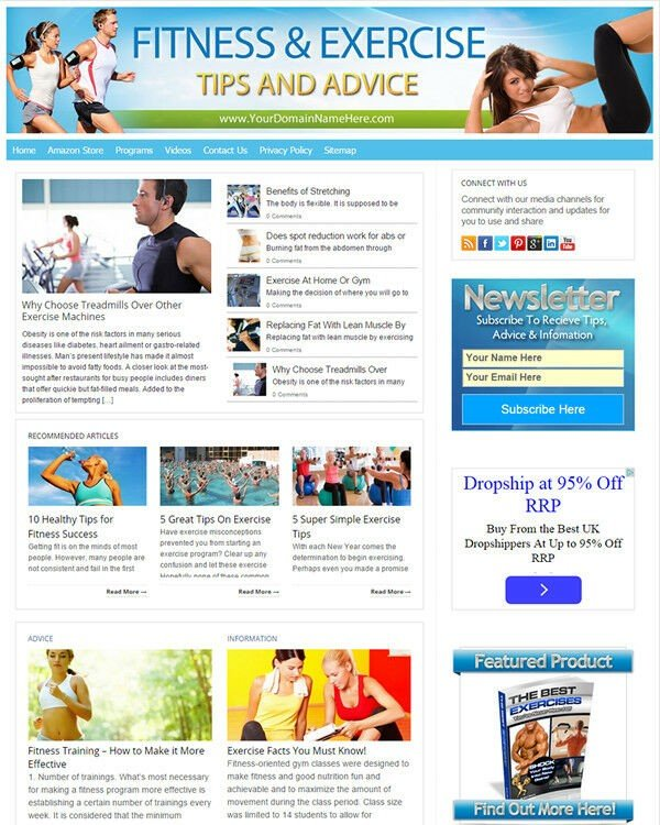 Fitness and Exercise Website