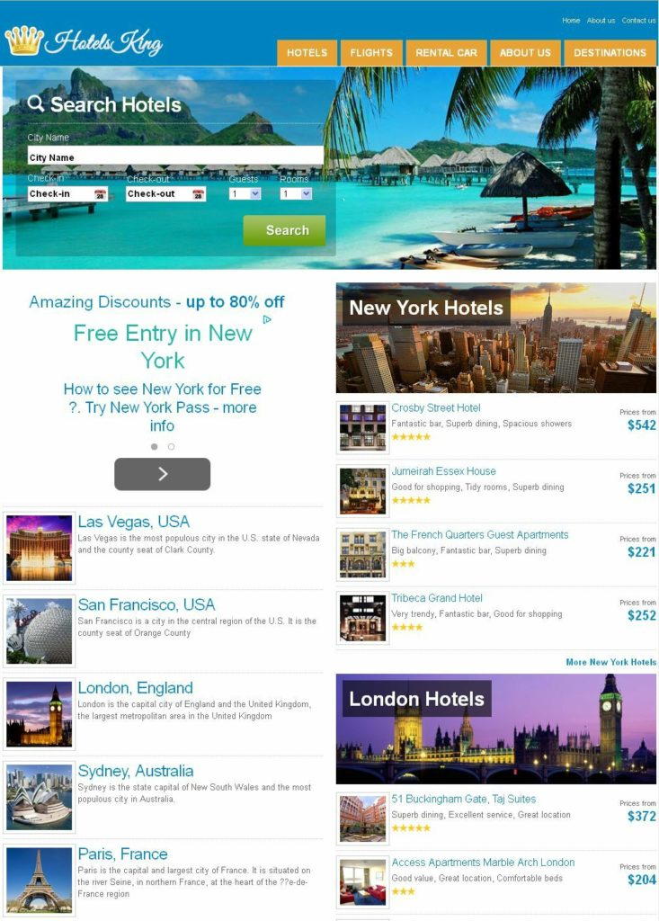 Fully Automated Hotel, Flight Booking Website - Make Money Online